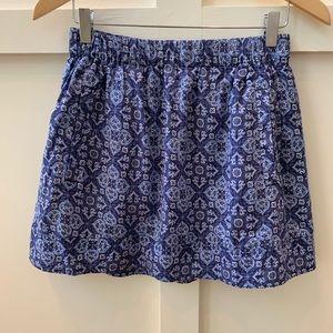 j crew printed cotton skirt